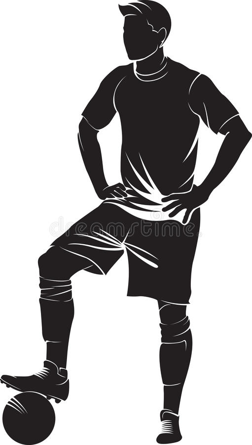 Giocatore di calcio (calcio) illustrazione di stock