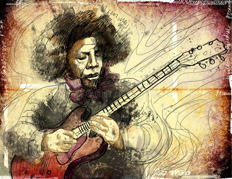 Giocatore di chitarra illustrazione vettoriale