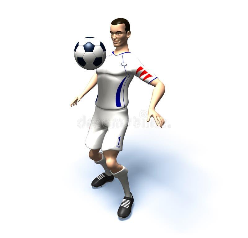 Giocatore di football americano illustrazione vettoriale