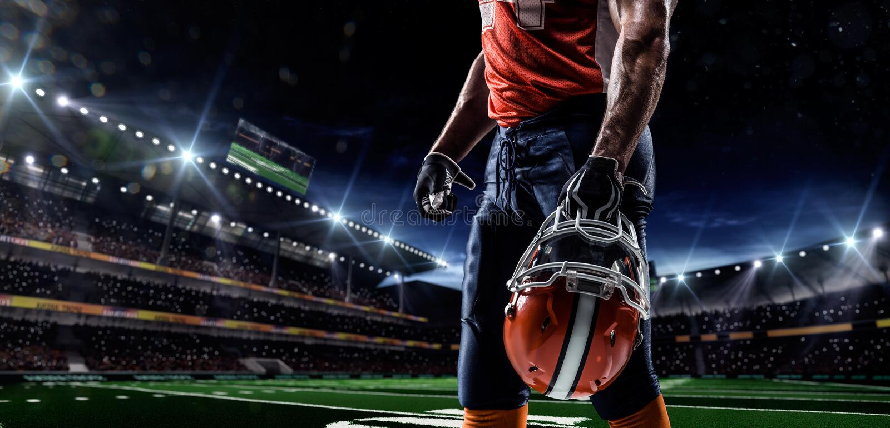 Giocatore di football americano di Americam fotografie stock