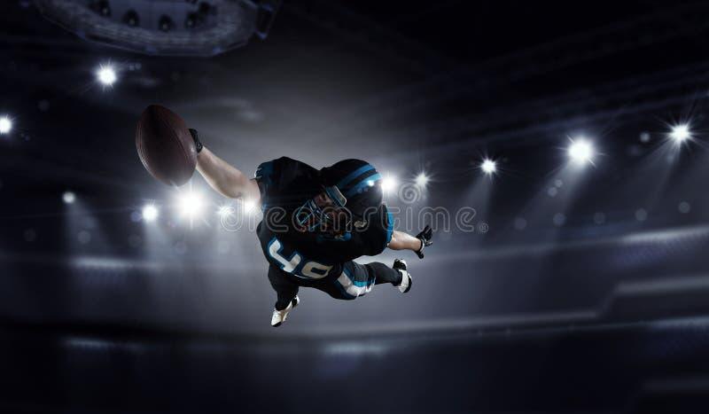 Giocatore di football americano Media misti fotografia stock