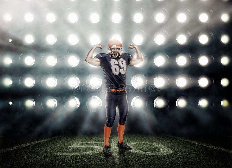 Giocatore di football americano nell'azione immagini stock