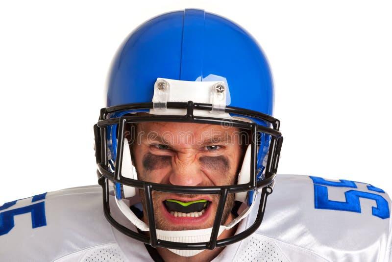 Giocatore di football americano tagliato fotografia stock libera da diritti