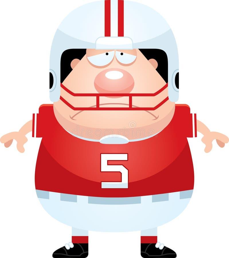 Giocatore di football americano triste del fumetto illustrazione di stock