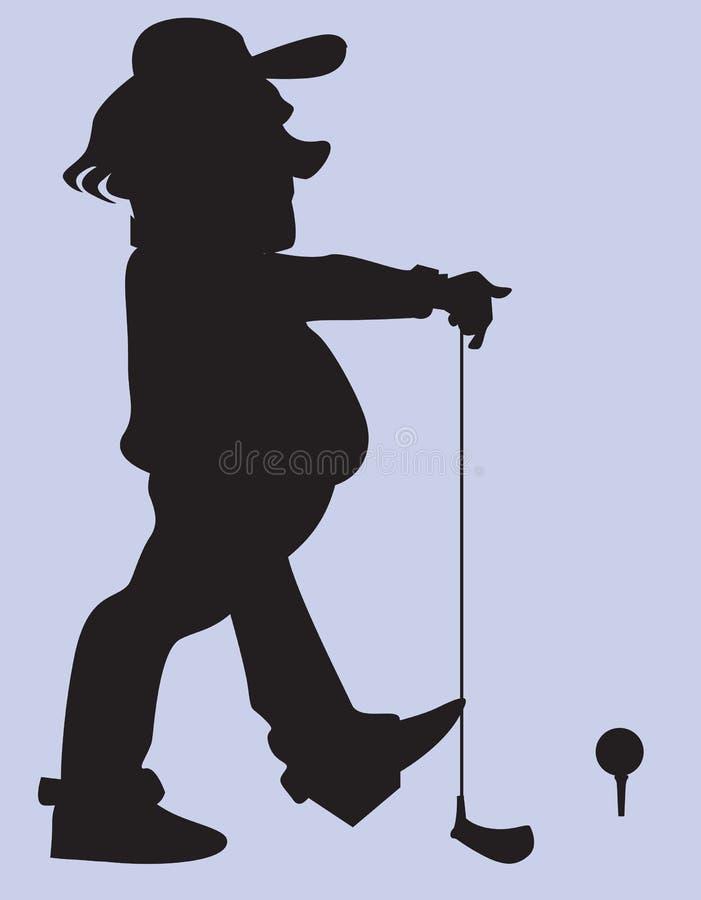 Giocatore di golf illustrazione vettoriale