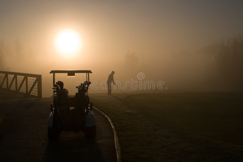 Giocatore di golf fotografie stock