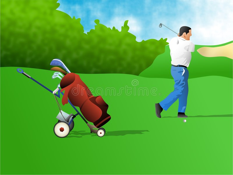 Giocatore di golf royalty illustrazione gratis