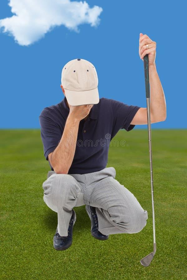 Giocatore di golf deludente immagini stock libere da diritti