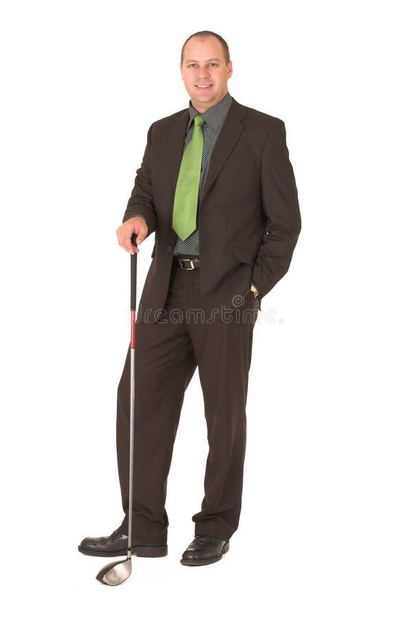 Giocatore di golf di affari fotografia stock