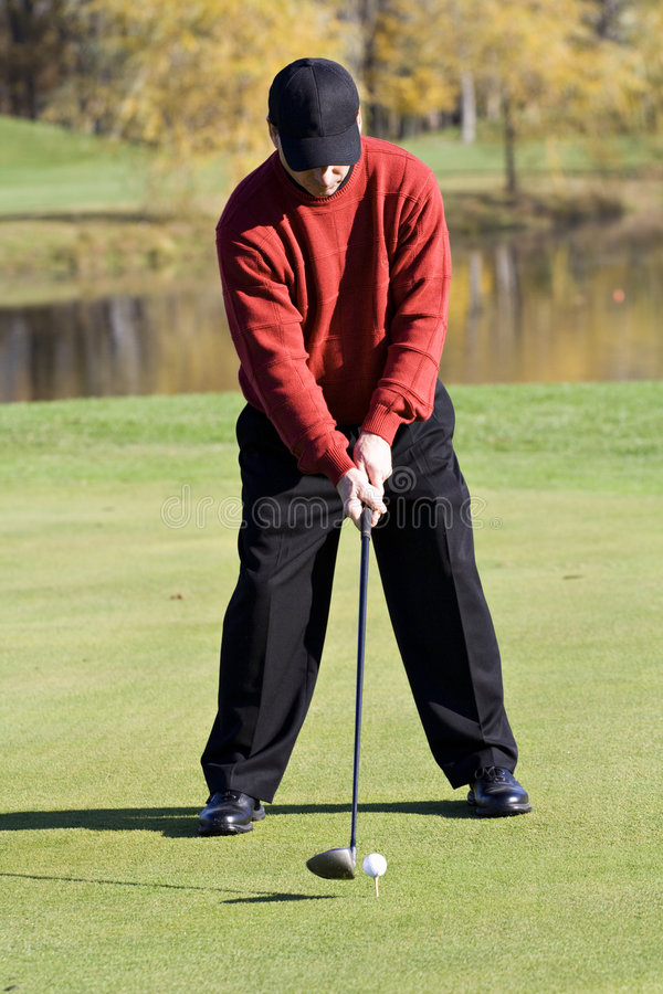 Giocatore di golf di caduta fotografia stock