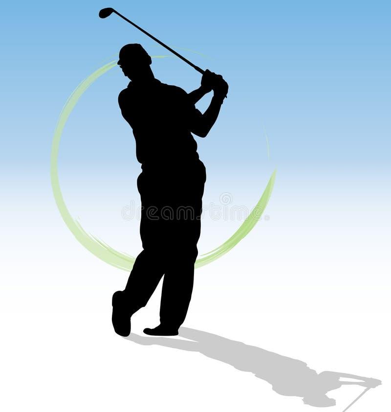 Giocatore di golf di vettore. illustrazione di stock