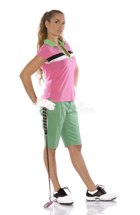 Giocatore di golf femminile fotografia stock