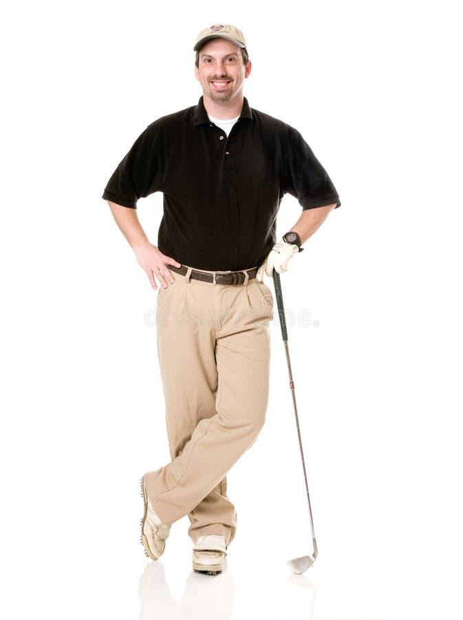 Giocatore di golf maschio fotografie stock libere da diritti