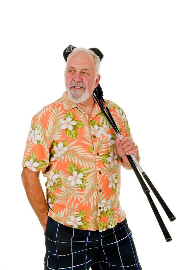 Giocatore di golf più anziano fotografia stock