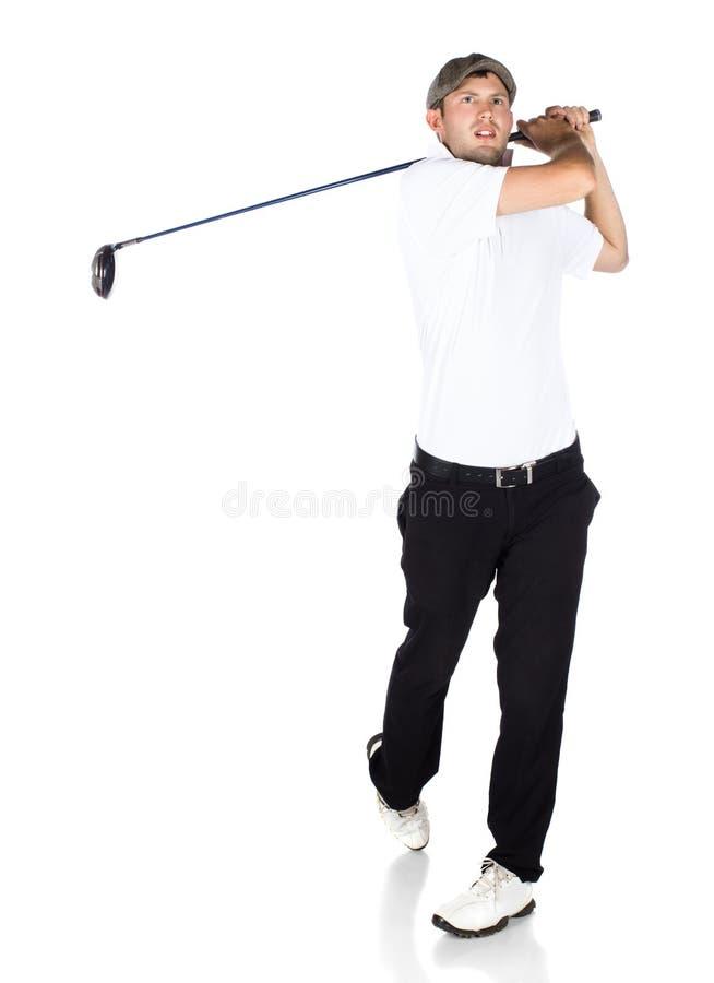 Giocatore di golf professionale immagine stock libera da diritti