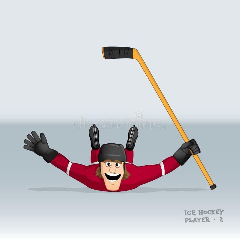 Giocatore di hockey su ghiaccio canadese illustrazione di stock