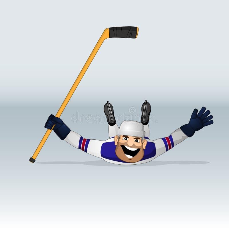 Giocatore di hockey su ghiaccio del gruppo di U.S.A. illustrazione vettoriale