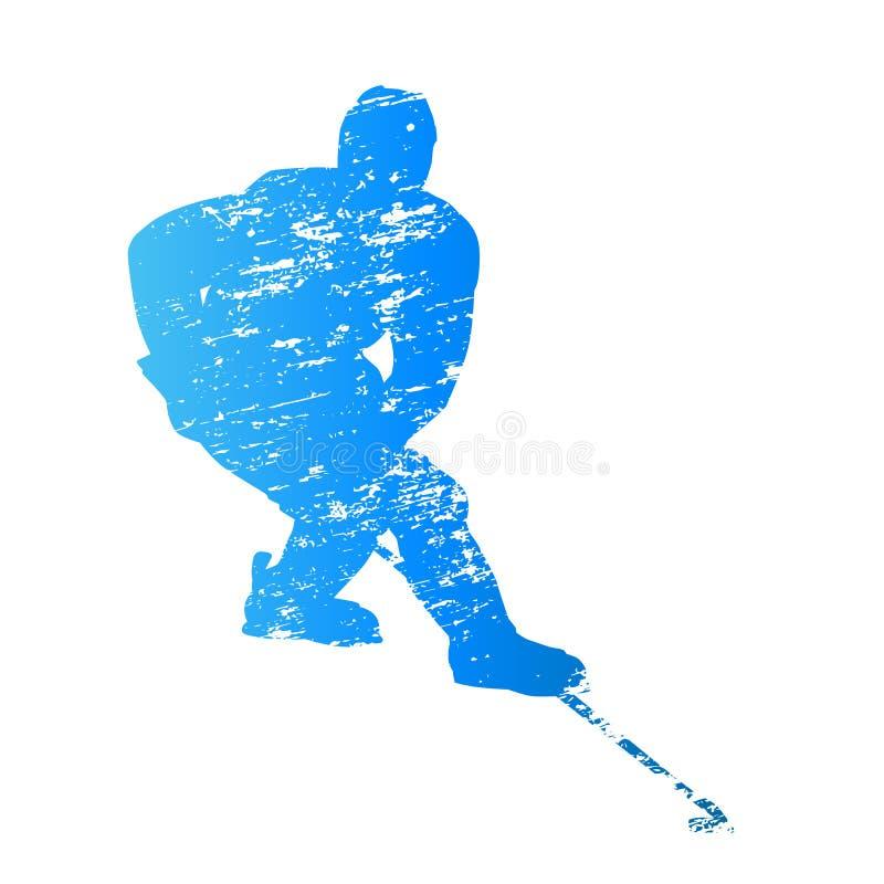 Giocatore di hockey su ghiaccio della siluetta di vettore royalty illustrazione gratis
