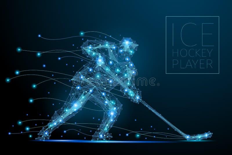 Giocatore di hokey del ghiaccio illustrazione di stock