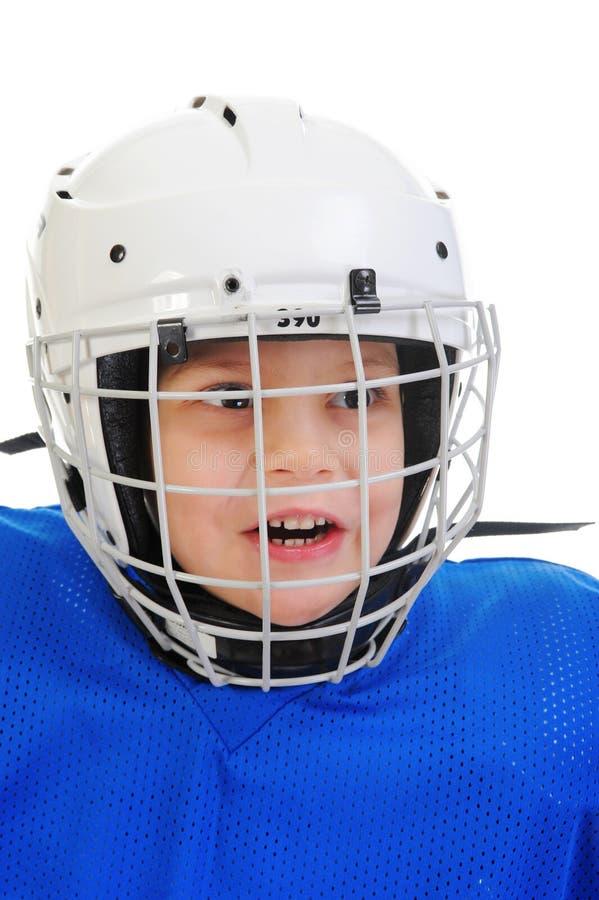 Giocatore di hokey di Little Boy immagine stock libera da diritti