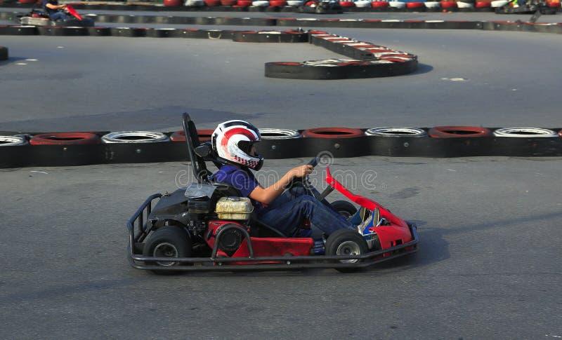 Giocatore di Karting fotografie stock libere da diritti