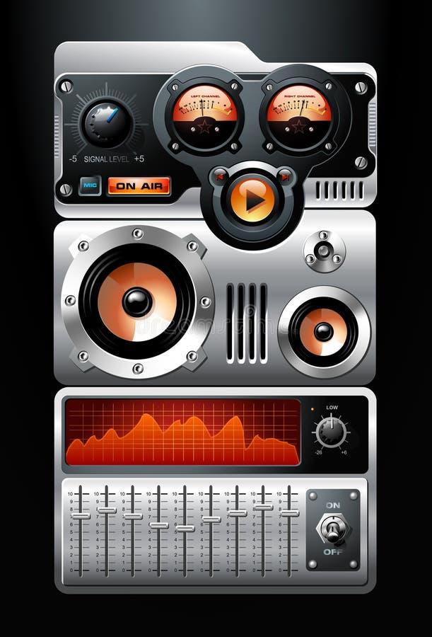 Giocatore di MP3 arancione di analogo illustrazione di stock