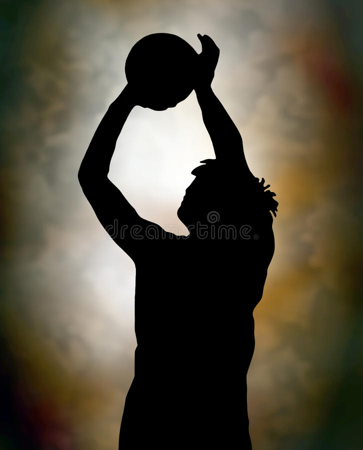 Giocatore di pallacanestro illustrazione di stock