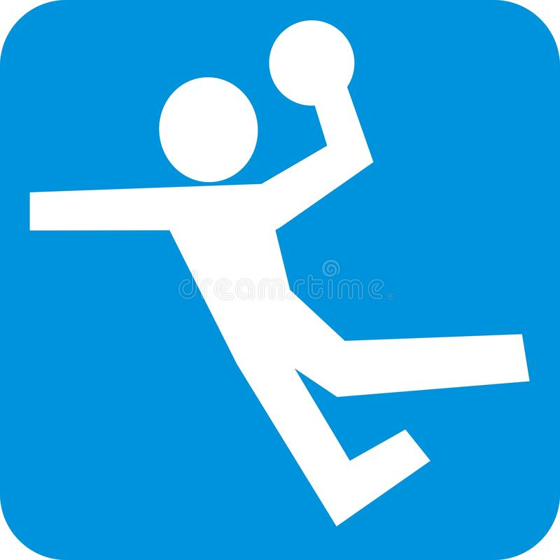 Giocatore di pallacanestro alla struttura blu, icona di vettore royalty illustrazione gratis