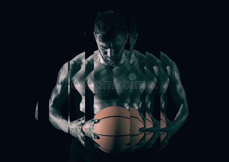 Giocatore di pallacanestro Identico e pazienza fotografie stock