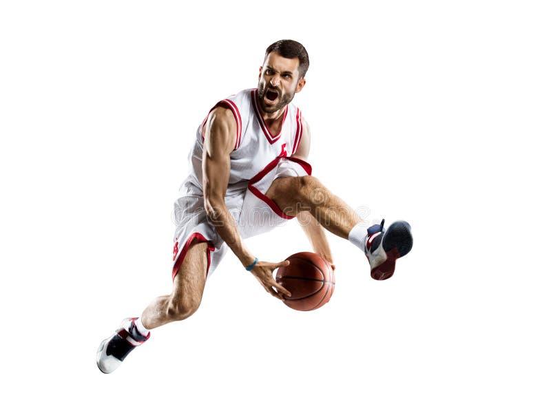 Giocatore di pallacanestro nell'azione immagine stock libera da diritti