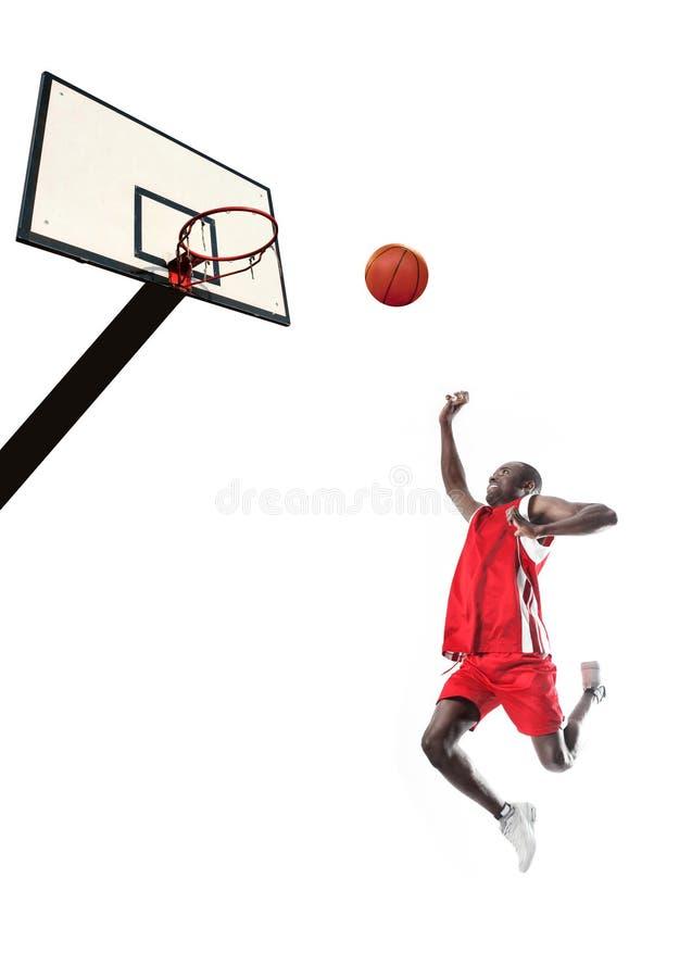 Giocatore di pallacanestro nero fotografia stock libera da diritti
