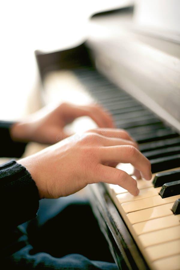 Giocatore di piano immagine stock