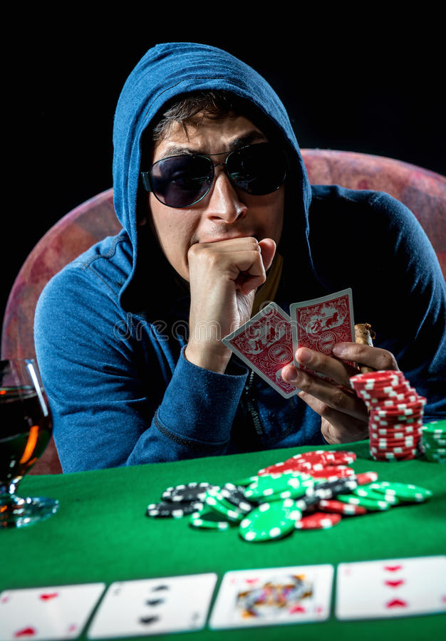 Giocatore di poker fotografie stock