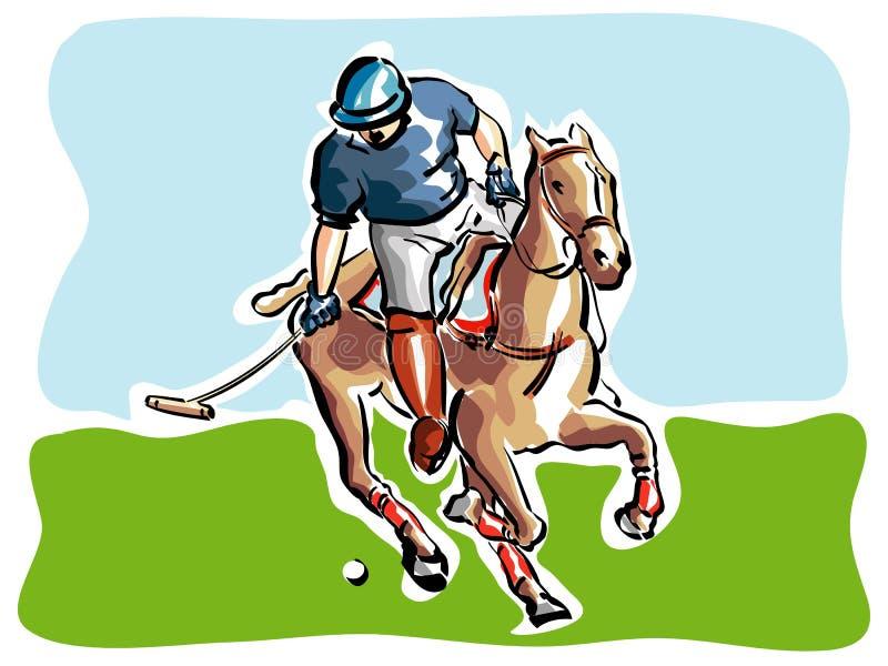Giocatore di polo illustrazione di stock