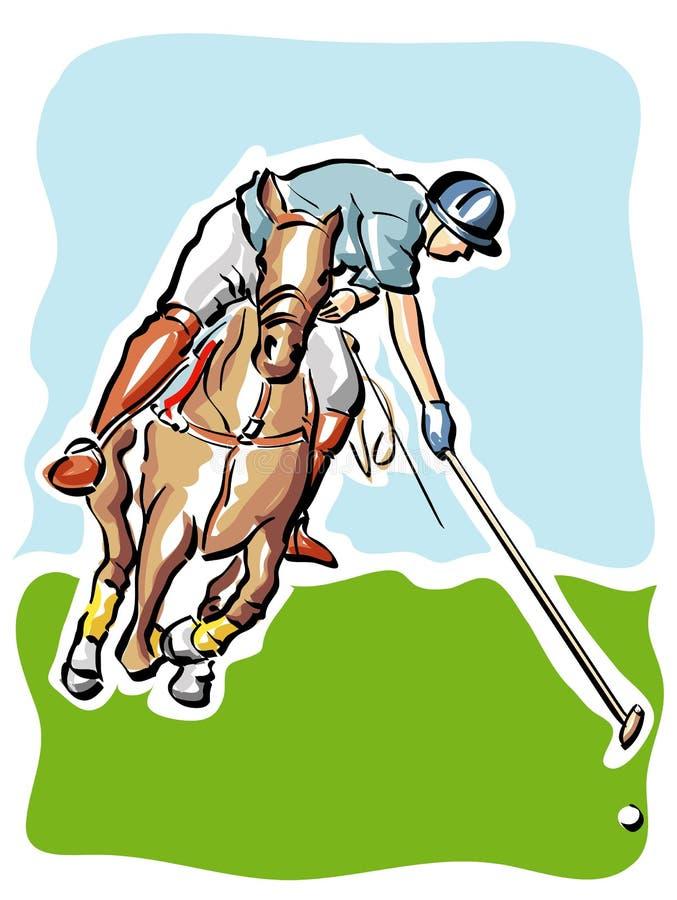 Giocatore di polo illustrazione vettoriale