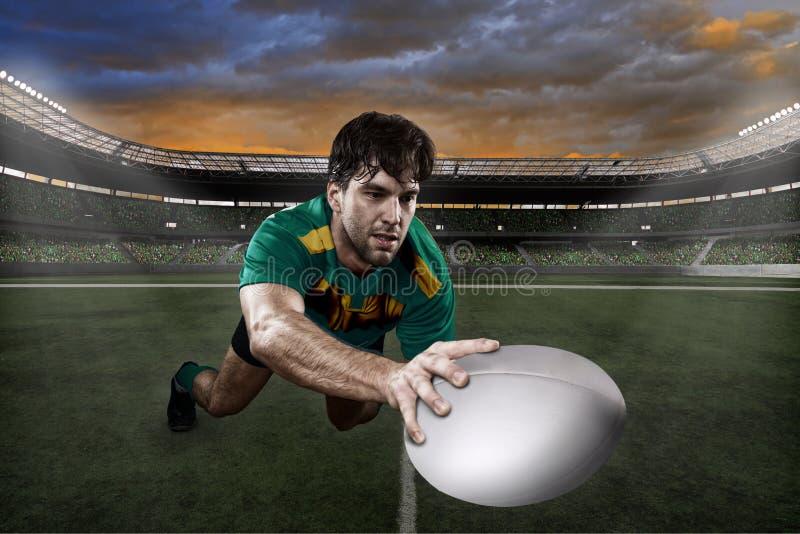 Giocatore di rugby fotografie stock