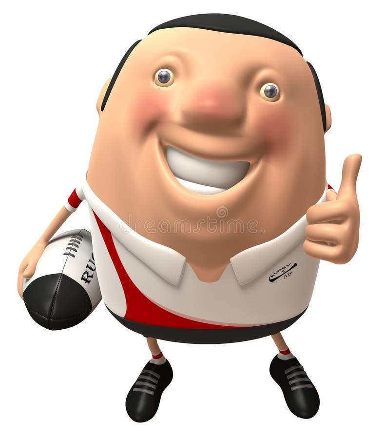 Giocatore di rugby illustrazione di stock