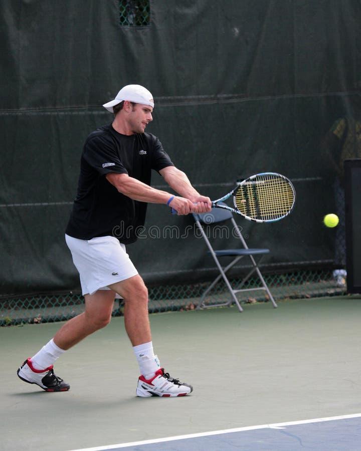 Giocatore di tennis professionale Andy Roddick fotografie stock libere da diritti