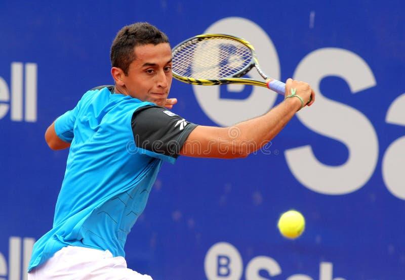Giocatore di tennis spagnolo Nicolas Almagro fotografia stock libera da diritti