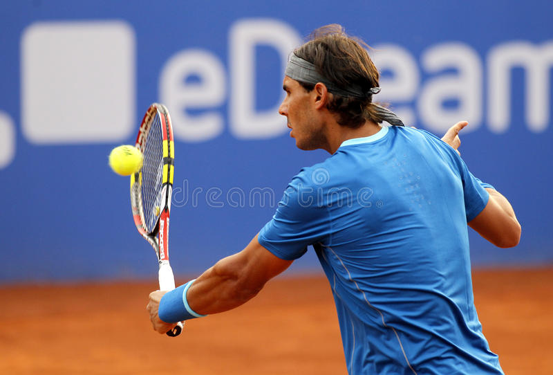 Giocatore di tennis spagnolo Rafa Nadal immagini stock