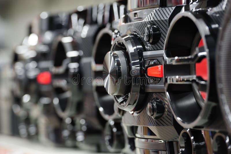 Giocatore digitale compatto del sistema stereo fotografia stock libera da diritti
