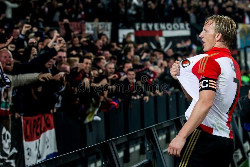 Giocatore Dirk Kuyt (Dirk Kuijt) di Feyenoord fotografia stock libera da diritti