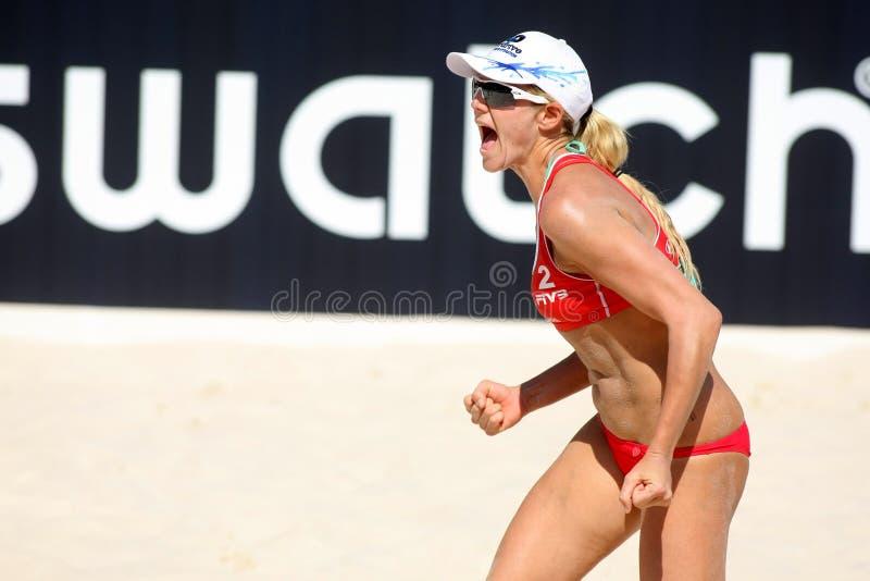 Giocatore nordamericano Jennifer Kessy di scarica della spiaggia immagine stock