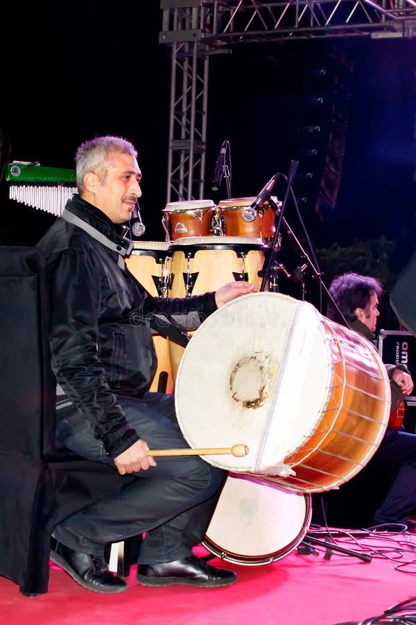 Giocatore turco del tamburo immagine stock