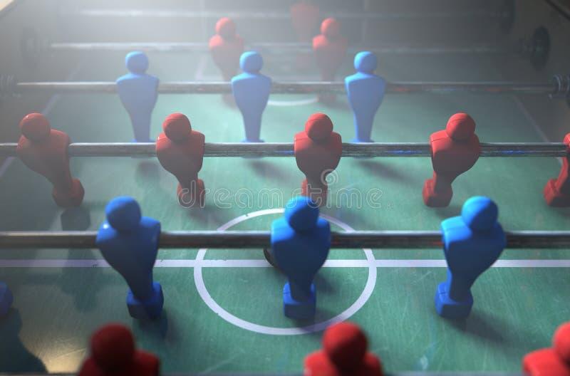 Giocatori di Foosball illustrazione di stock