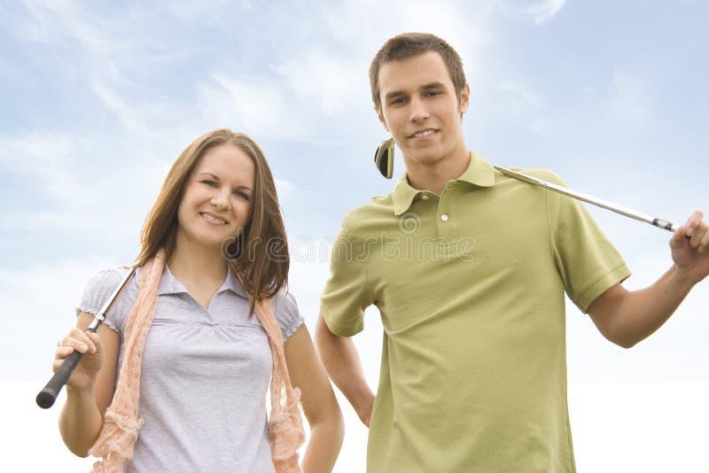 Giocatori di golf fotografia stock