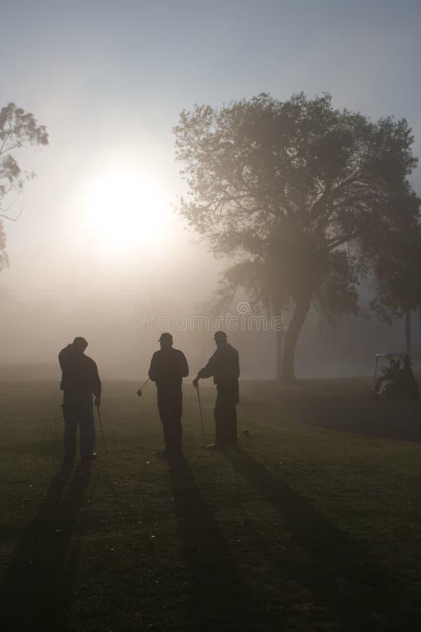 Giocatori di golf di mattina fotografia stock