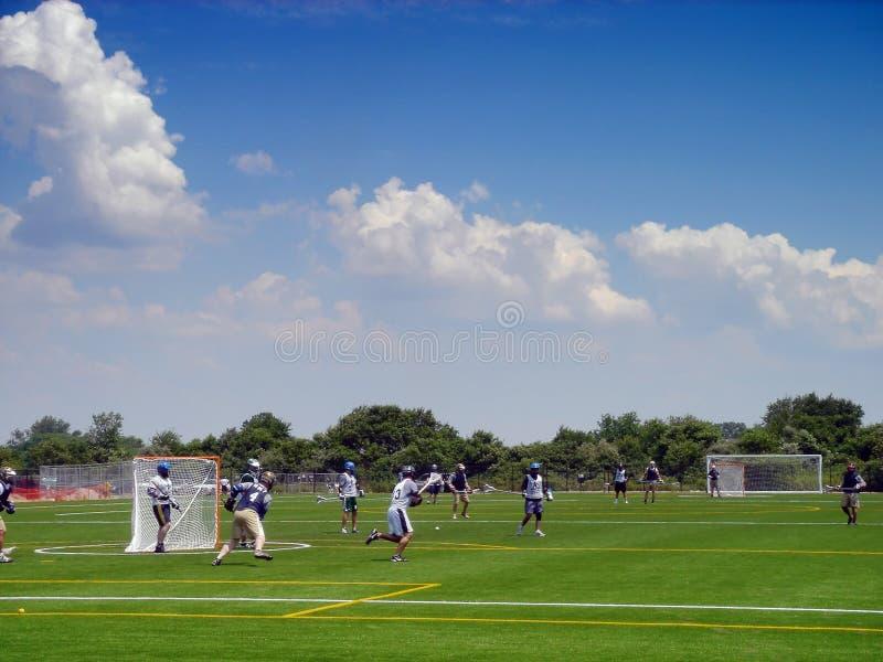 Giocatori di Lacrosse fotografia stock