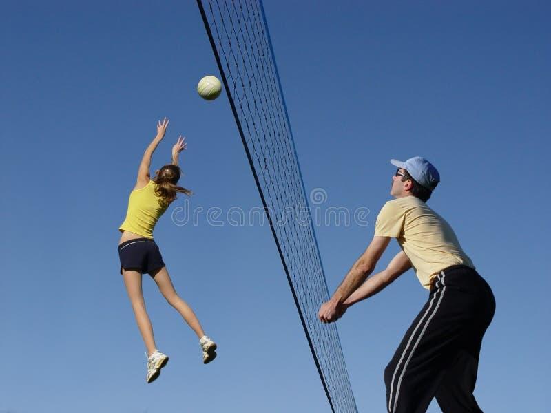 Giocatori di pallavolo immagini stock libere da diritti