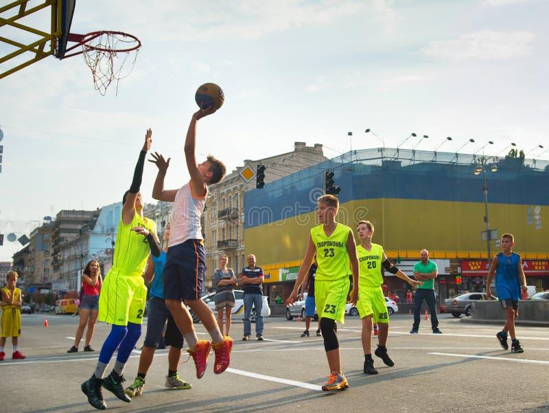 Giocatori di Streetball fotografie stock
